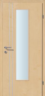 Decora-CPL Ahorn 02S mit 2 Alulisenen mit Glaslichte EN