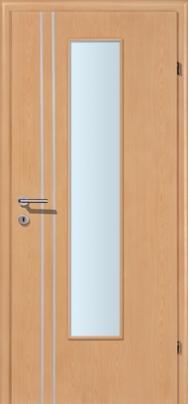 Decora-CPL Buche 02S mit 2 Alulisenen mit Glaslichte EN