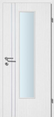 Decora-CPL Esche weiss 02S mit 2 Alulisenen mit Glaslichte EN