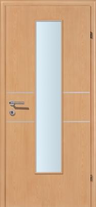 Decora-CPL Buche 02 mit 2 Alulisenen mit Glaslichte EN