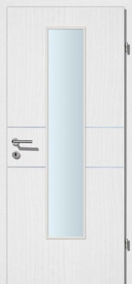 Decora-CPL Esche weiss 02 mit 2 Alulisenen mit Glaslichte EN