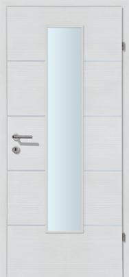 Decora-CPL Schneeweiss 04 mit 4 Alulisenen mit Glaslichte EN