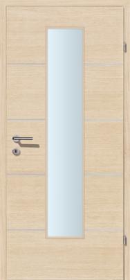 Decora-CPL Weisseiche 04 mit 4 Alulisenen mit Glaslichte EN