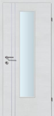 Decora-CPL Schneeweiss 02S mit 2 Alulisenen mit Glaslichte EN