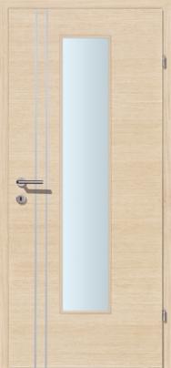 Decora-CPL Weisseiche 02S mit 2 Alulisenen mit Glaslichte EN