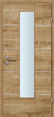 Decora-CPL Eiche astig 04 mit 4 Alulisenen mit Glaslichte EN