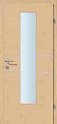 Decora-CPL Bergahorn 02 mit 2 Alulisenen mit Glaslichte EN