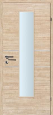 Decora-CPL Sandbirke 02 mit 2 Alulisenen mit Glaslichte EN