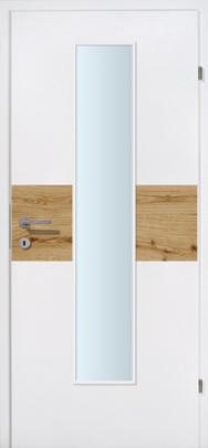 Duo 02 weiss mit Kerneicheeinlage mit Glaslichte EN
