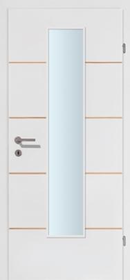 M-Line 4 weiss mit 4 Kernbuchelisenen mit Glaslichte EN