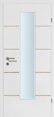 M-Line 4 weiss mit 4 Kerneichelisenen mit Glaslichte EN