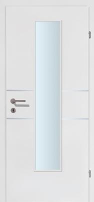 M-Line 2 weiss mit 2 Alulisenen mit Glaslichte EN